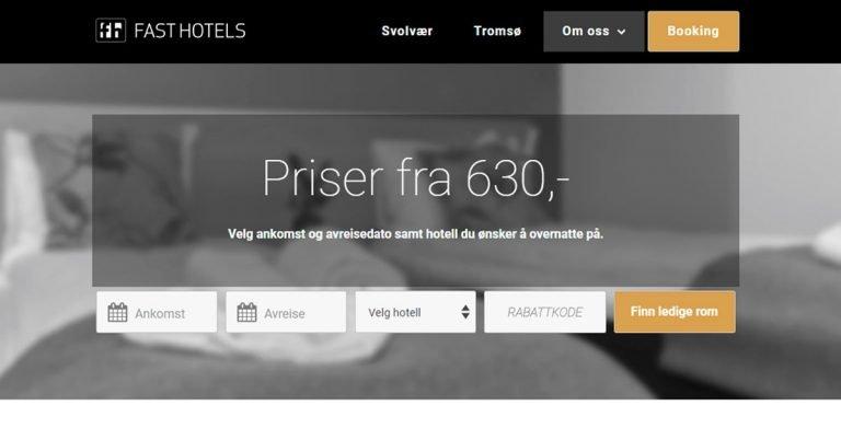 Nettside - Fast Hotels