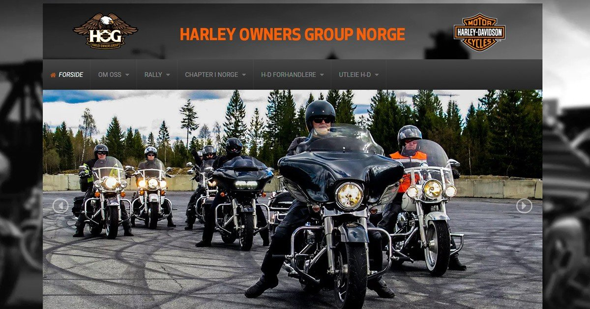 Nettsider for Harley Owners Group
