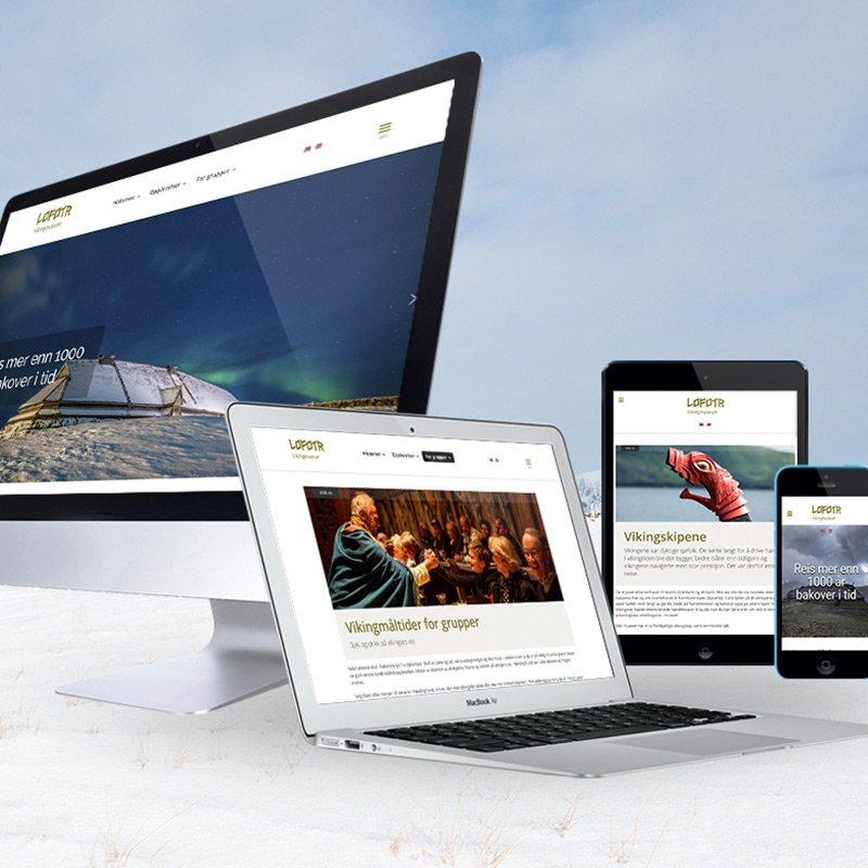 Lofotr - nettsideproduksjon