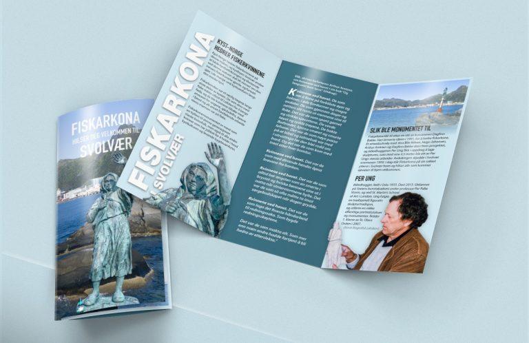 Brosjyre om Fiskarkona i Svolvær