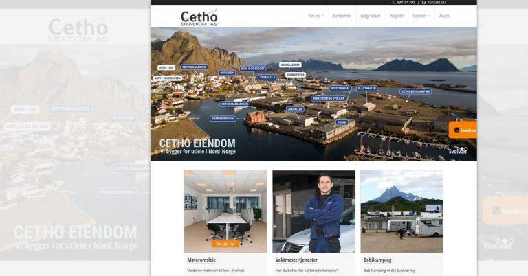 Nettløsning til Cetho Eiendom